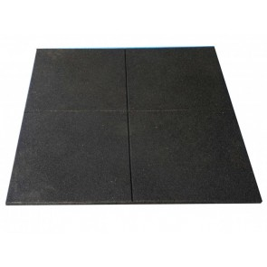 Tunturi 15mm Black Rubber Floor Gym Tiles